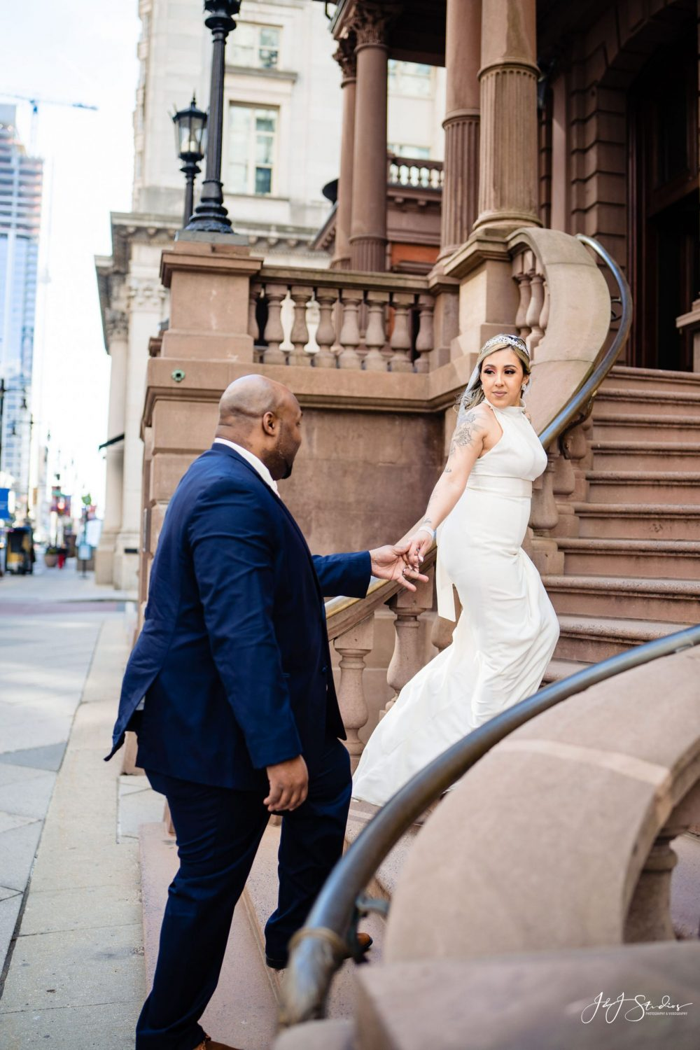Newly married couple Center City Philadelphia