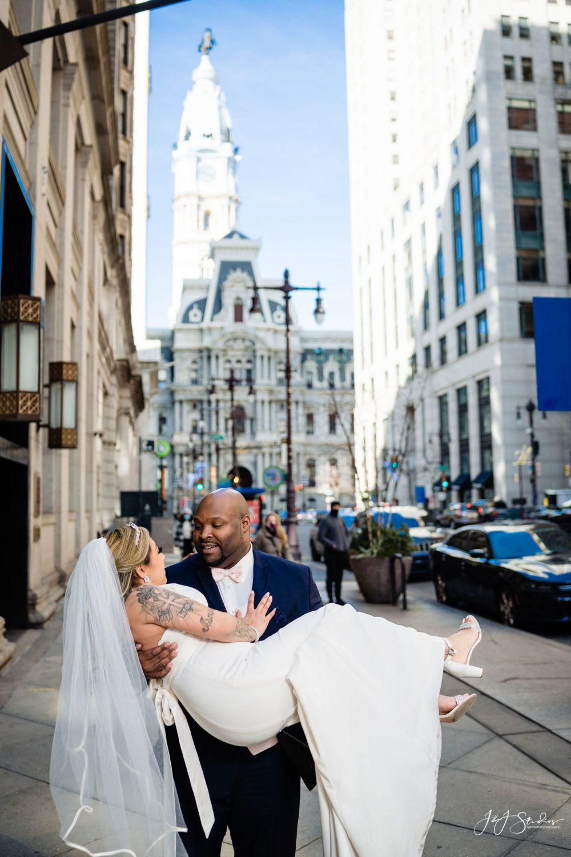 Newly weds City Hall Philadelphia
