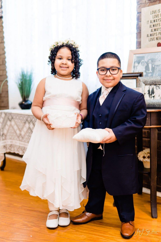 Ring bearer and flower girl Philadelphia Wedding Chapel