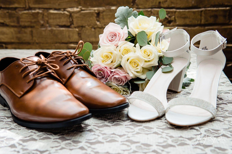 Bride and groom shoes Philadelphia Wedding Chapel