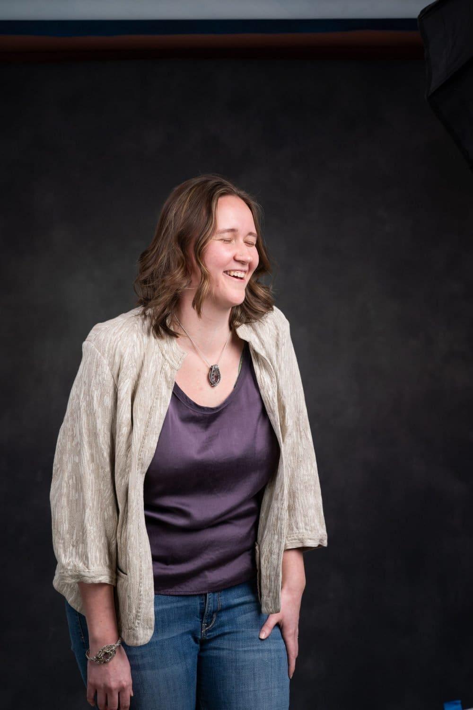 Laughing woman Fort Washington Headshot Corporate Photographer