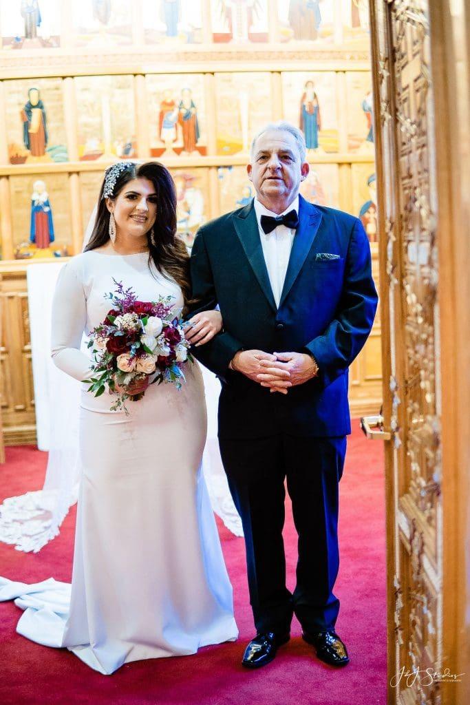 coptic wedding dress bride