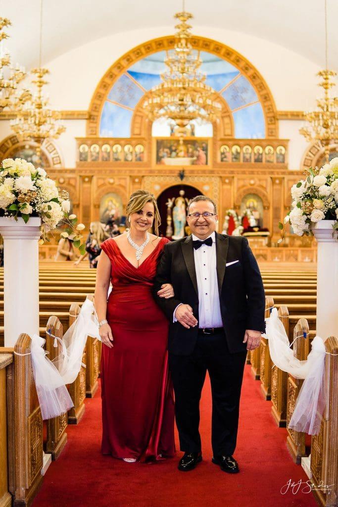 brides parents church wedding