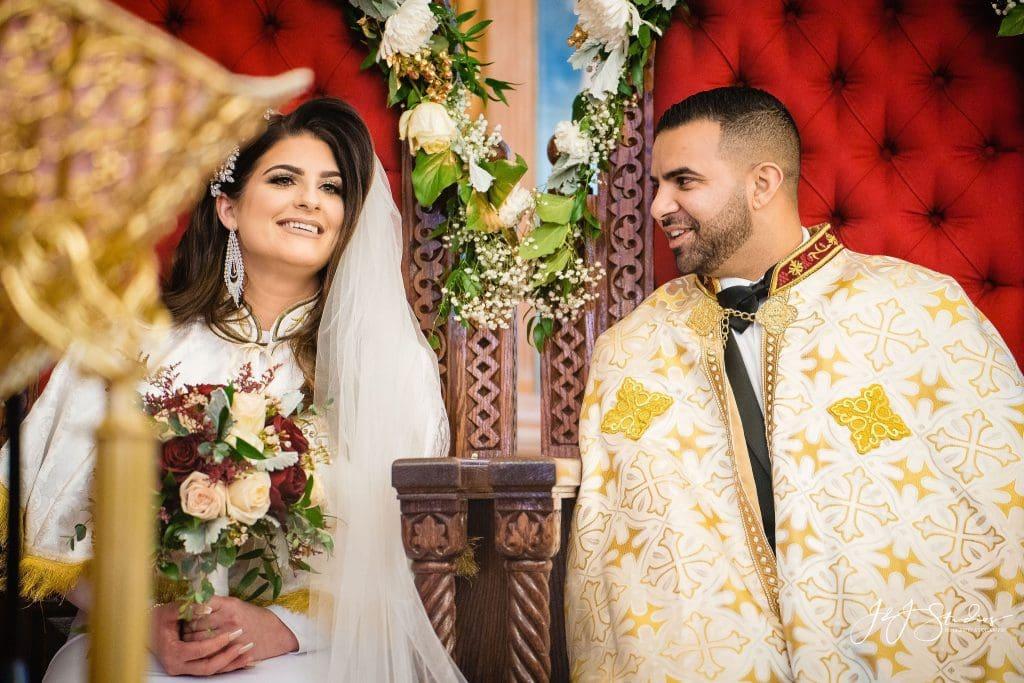 Coptic Church Wedding Couple