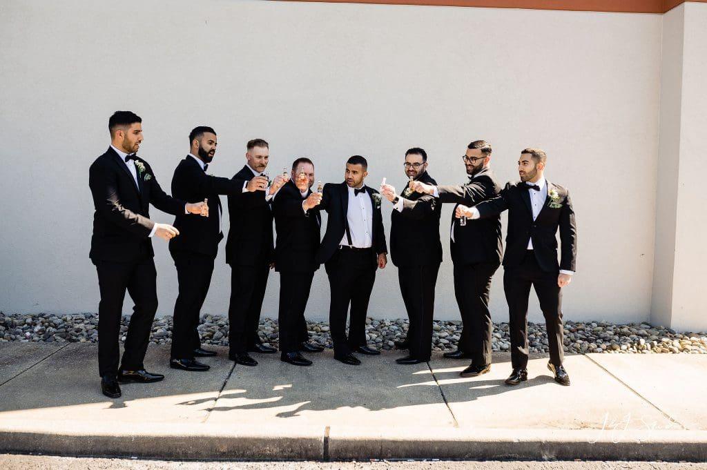 groom groomsmen toast