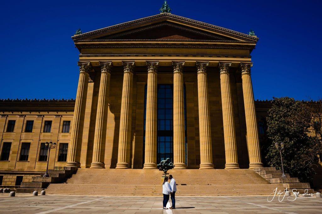 Philadelphia Museum of Art Rocky Steps engagement photo
