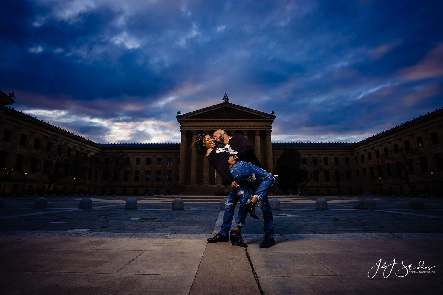 Philadelphia Art of Museum Downtown Philly Engagement