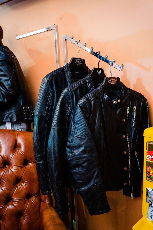 Leather jackets Philadelphia corporate branding photos