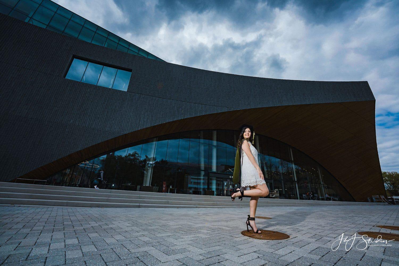 Dena graduation photoshoot Temple University Commencement