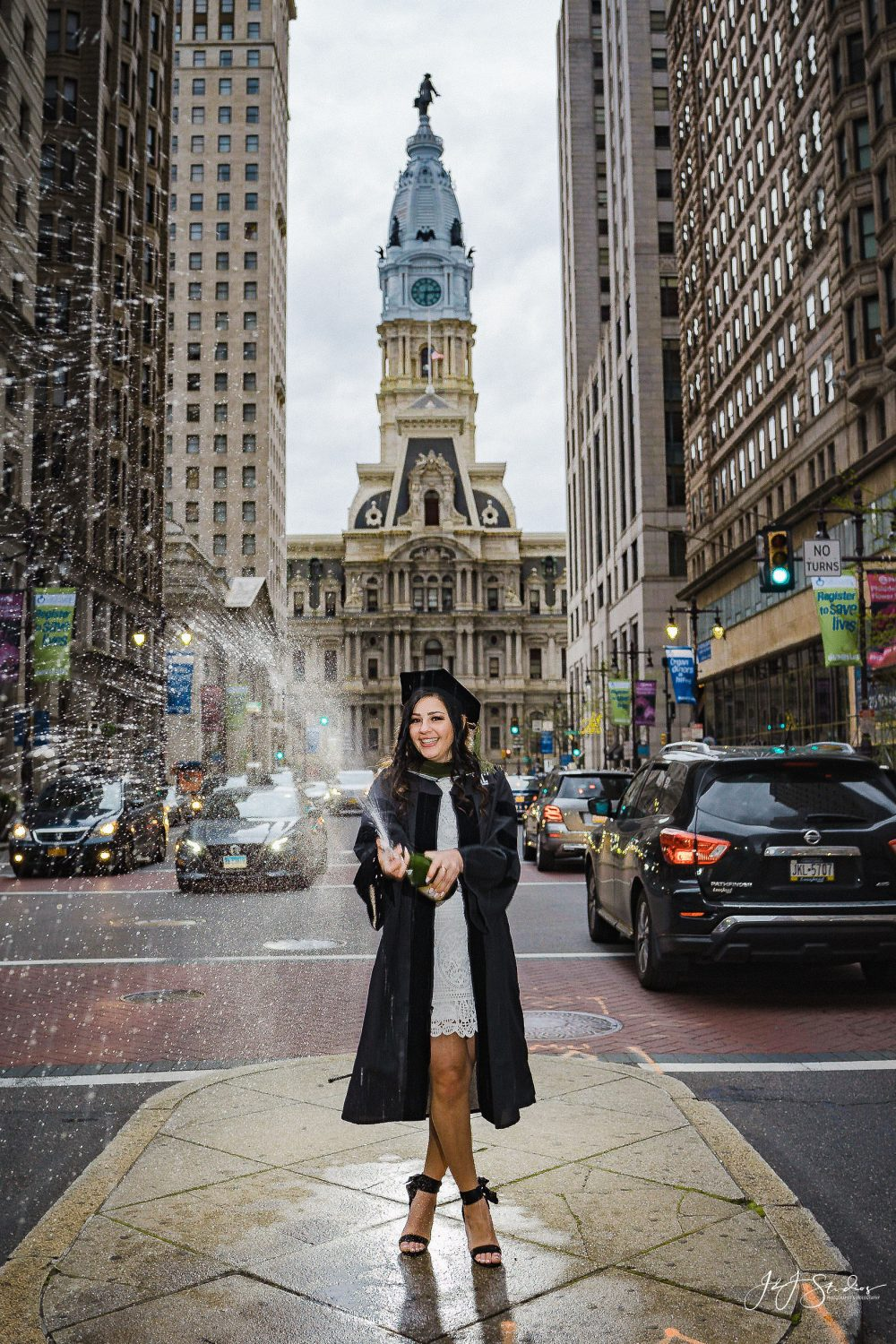 Dena downtown Philly Temple University Commencement
