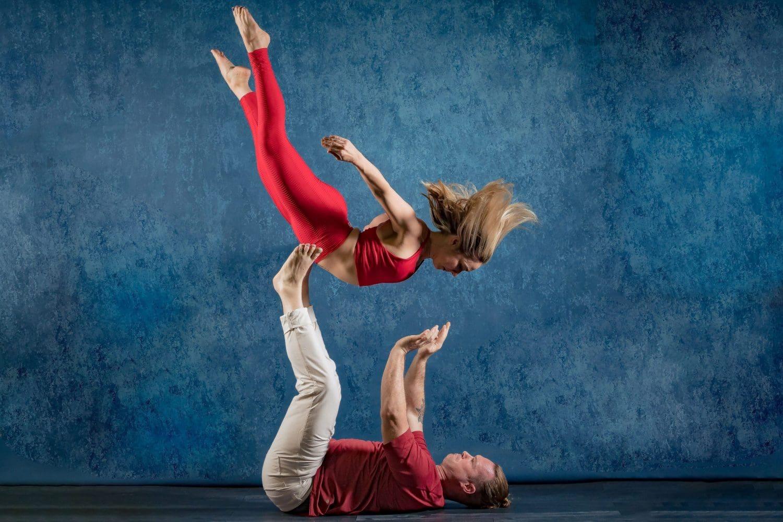 J&J Studios acro yoga session
