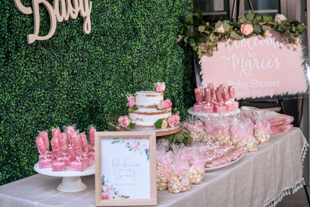 baby shower decor pink
