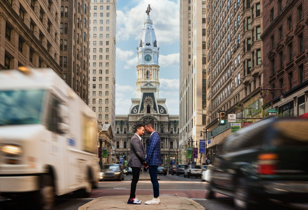 broad street philadelphia engagement