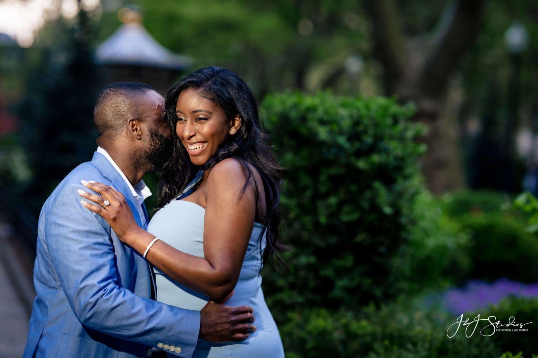 Newly engaged couple Rittenhouse