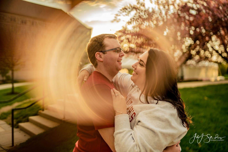 Engagement shoot at Saint Joseph's University