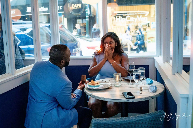 Love restaurant proposal