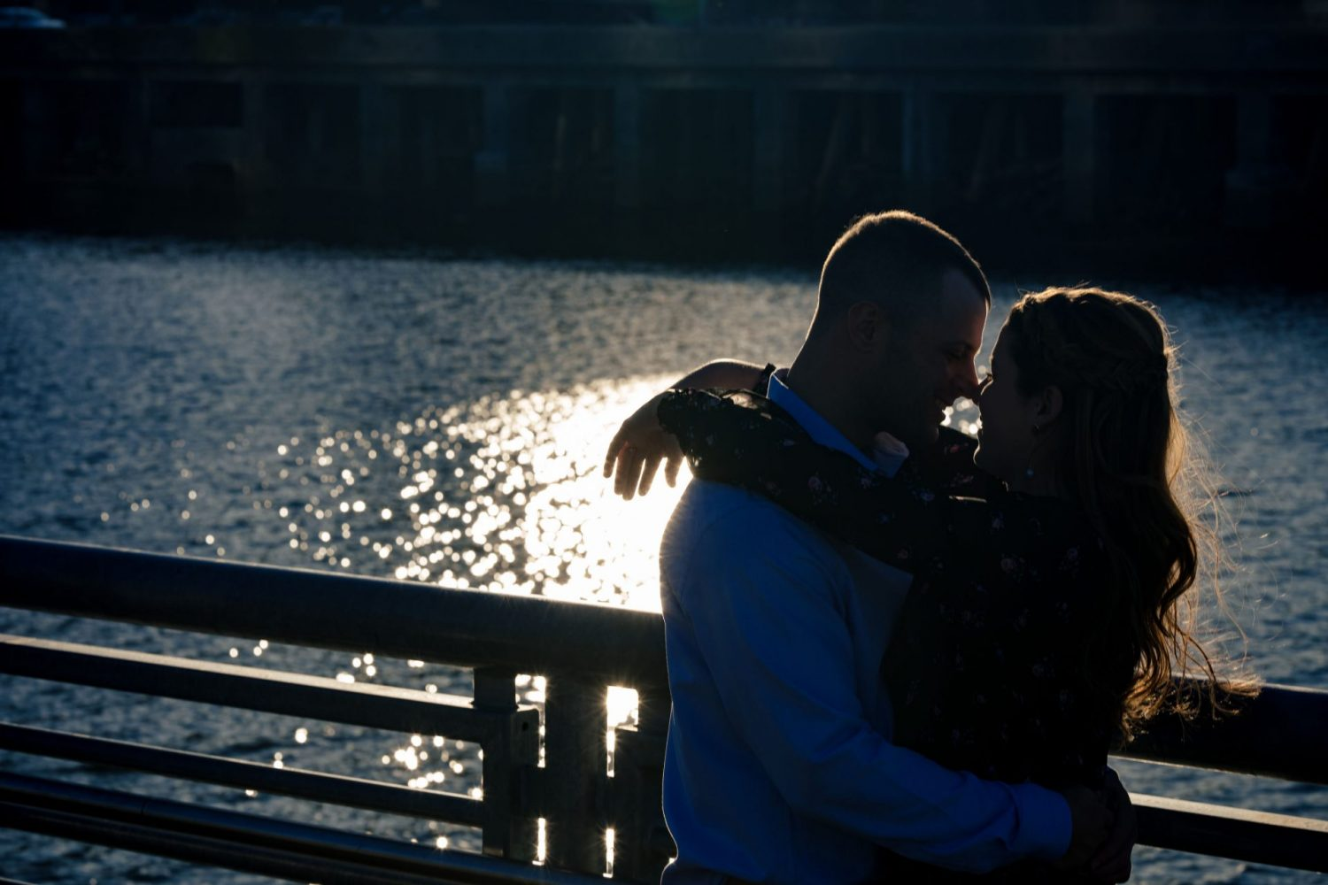 Sunset over the couple