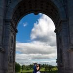 Couple under the arch Valley ForgeNational Park Indian Pre wedding Shoot By J&J Studios