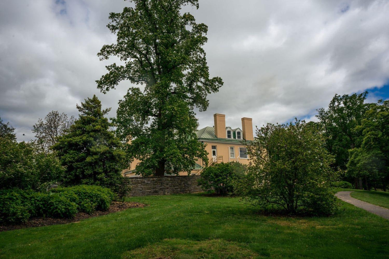 Expansive landscape on mansion Bellevue Hall Shot by John Ryan