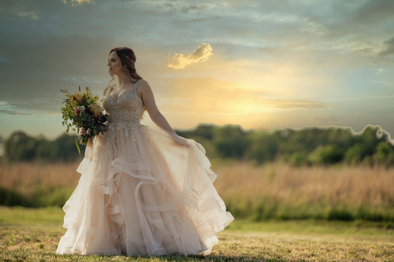 Beautiful bride before wedding ceremony on Bishop Farmstead Wedding shot by John Ryan