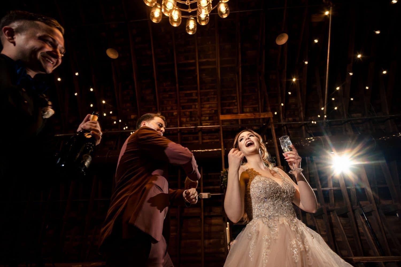 Gianna and Jon dancing Bishop Farmstead Wedding shot by John Ryan