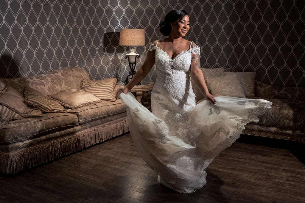 Bride getting ready by J&J Studios