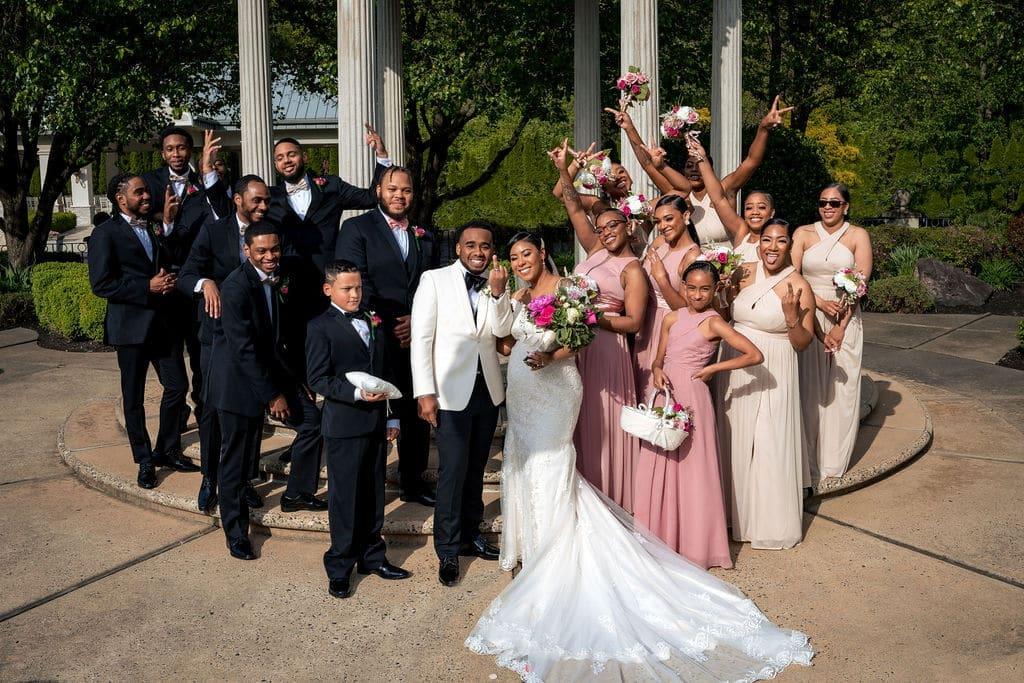 Wedding party by J&J Studios