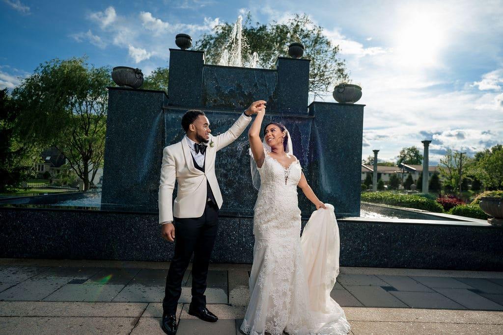 Bride and Groom by J&J Studios