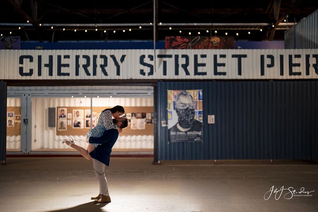 Cherry Street Pier engagement by J&J Studios