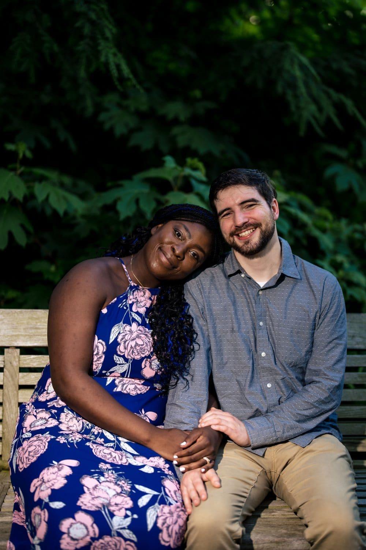Couple sitting on the bench in Longwood Gardens PA Shot By John Ryan