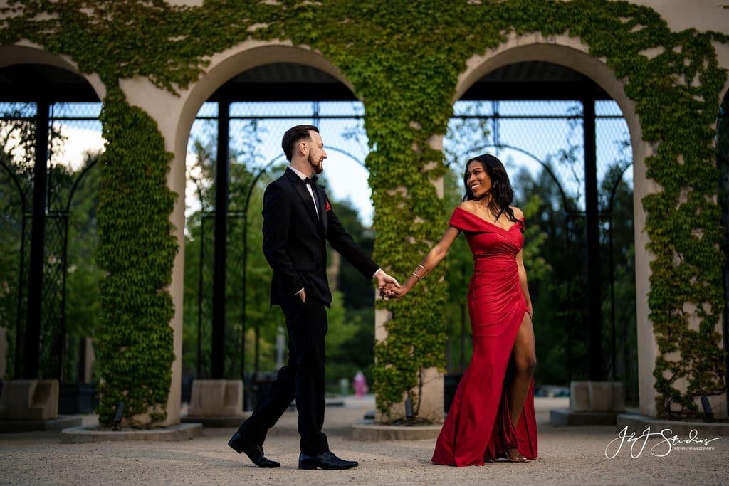Engagement shoot at Longwood Gardens