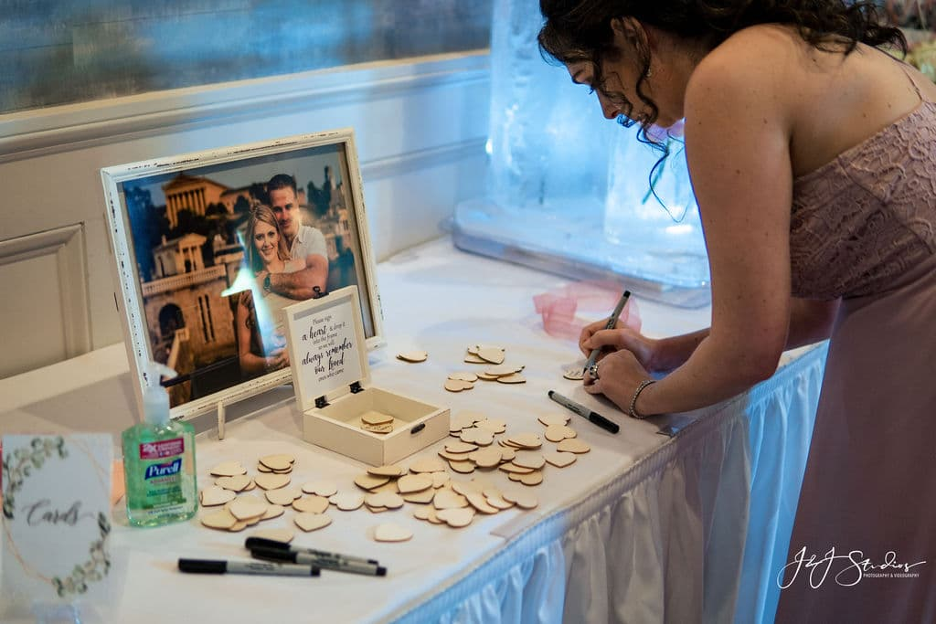 Decorations at Joe and Cherise's wedding