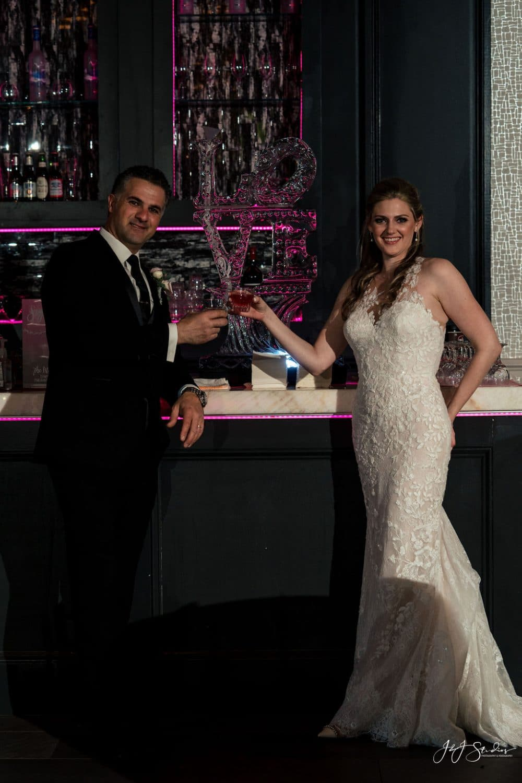 Cherise and Joe at reception