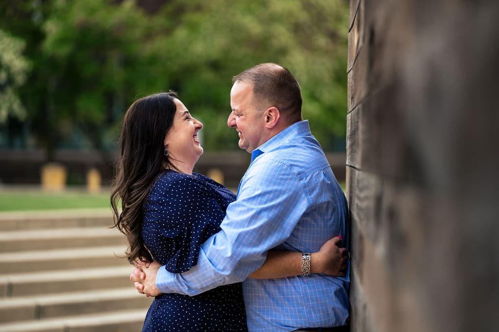 HAPPY ENGAGED COUPLE AT THE NAVY Yard shot by John Ryan