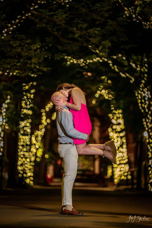Rittenhouse Square Surprise Proposal Shot By John Ryan