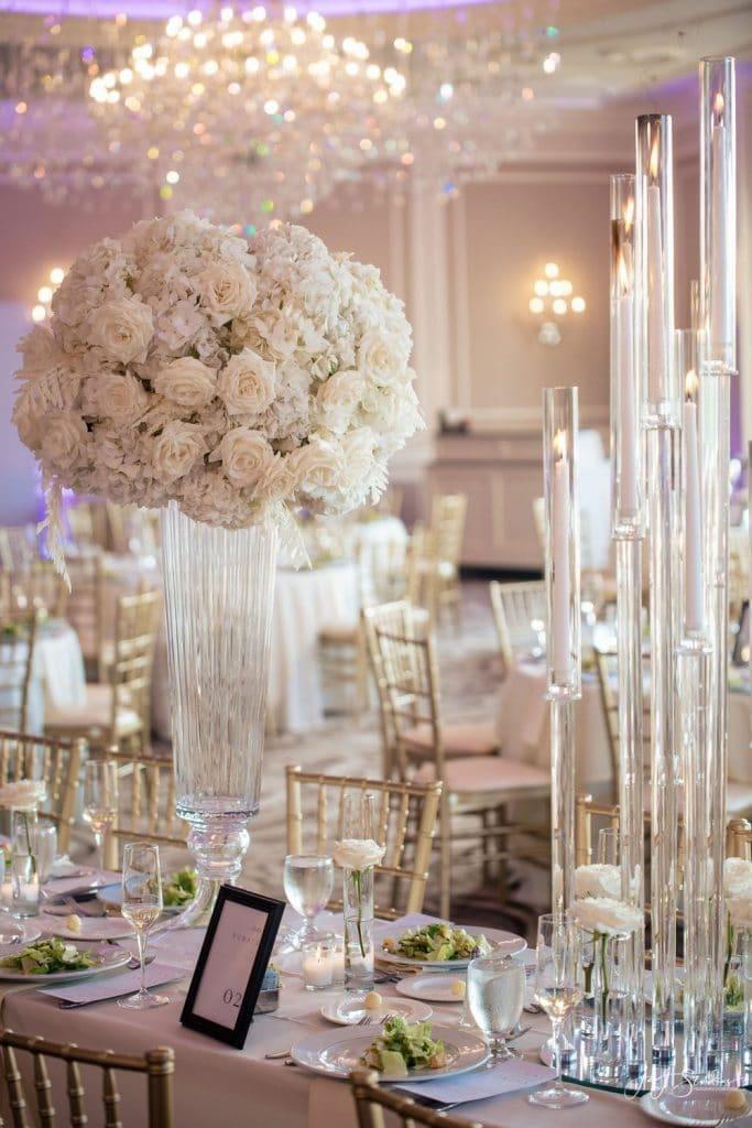tall flower centerpiece wedding reception