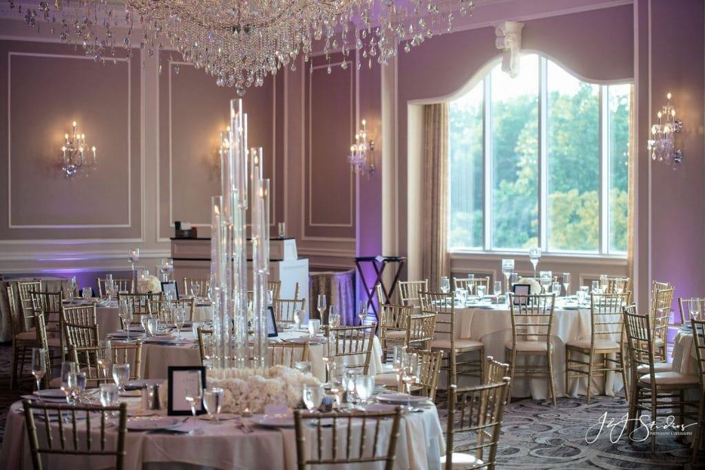 romantic elegant wedding reception decor