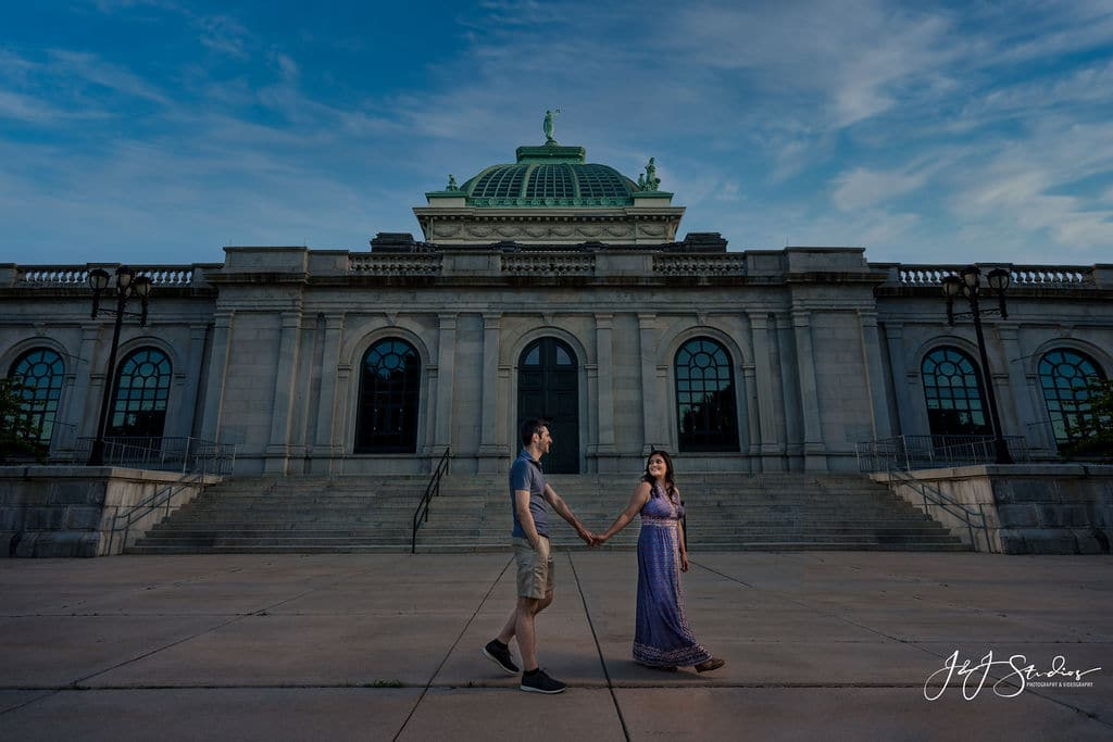 Couple at Museum of Art in Philly Shot By John Ryan