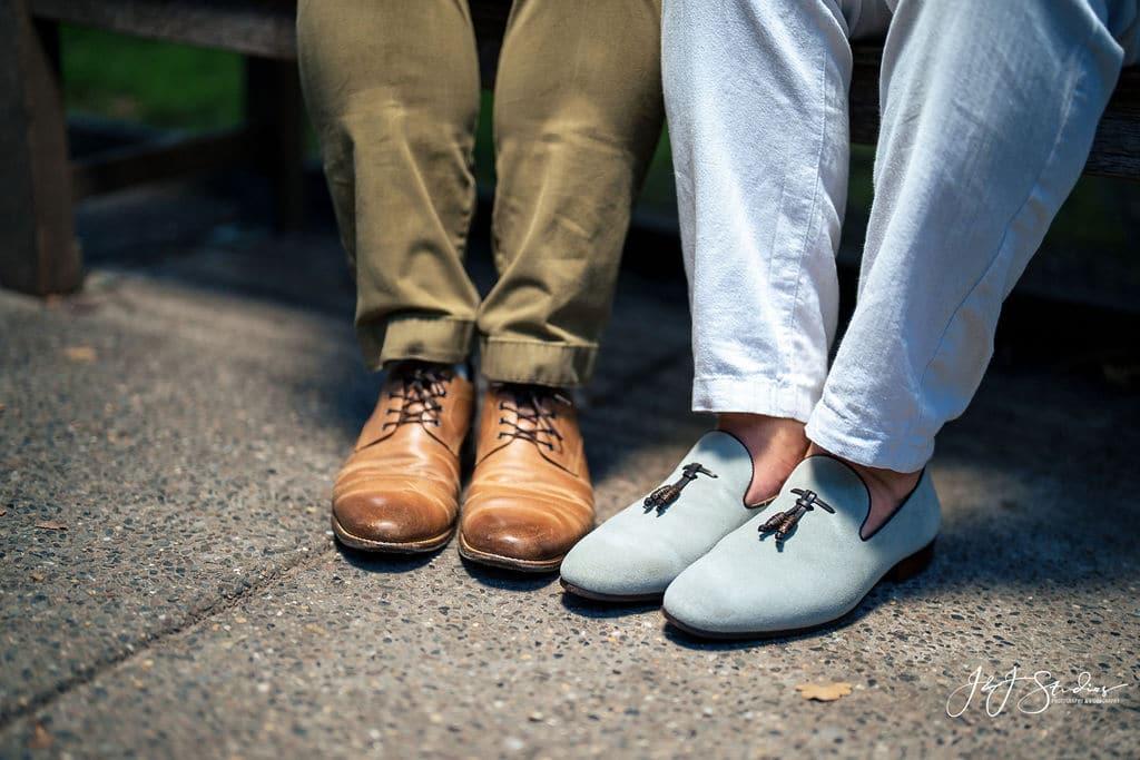 Couple's shoes by J&J Studios