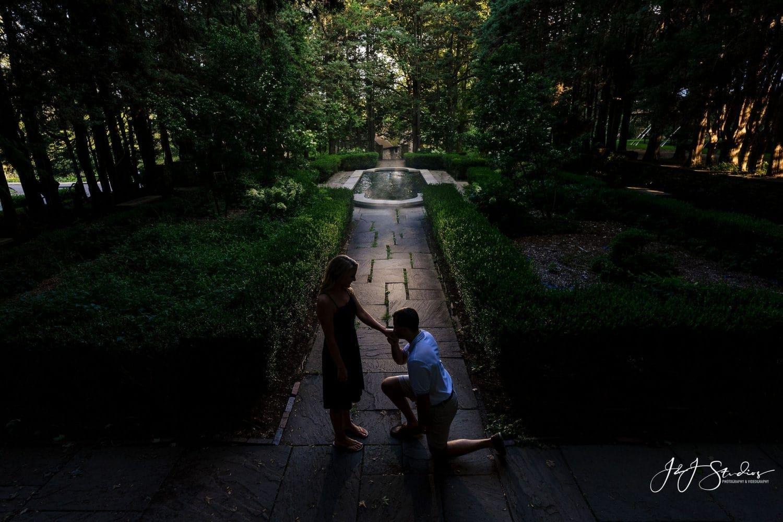 beautiful proposal in Delaware County Park Shot By John Ryan