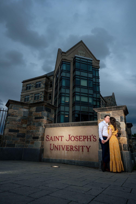 Couple at Saint Joseph's University by J&J Studios