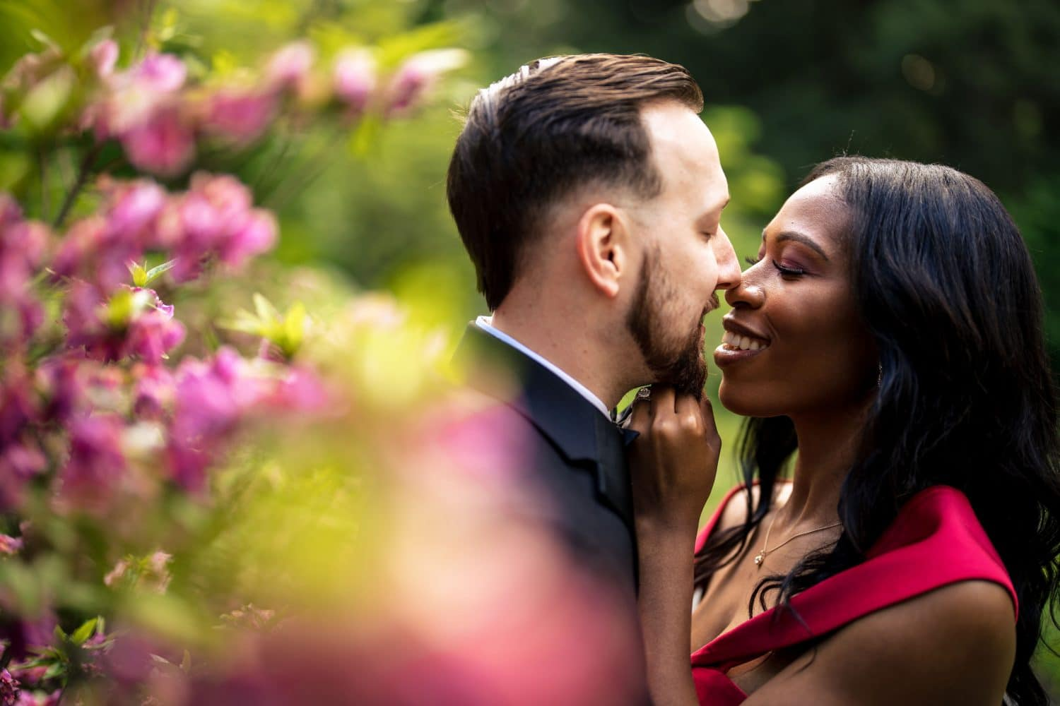 Couple Kissing at Longwood Gardens