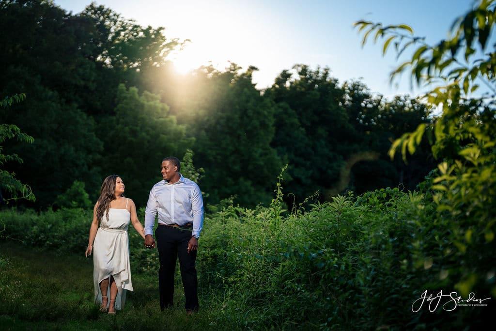 Couple exploring Longwood Gardens
