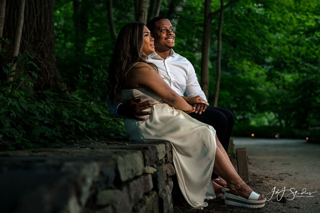 Newly engaged couple by J&J Studios