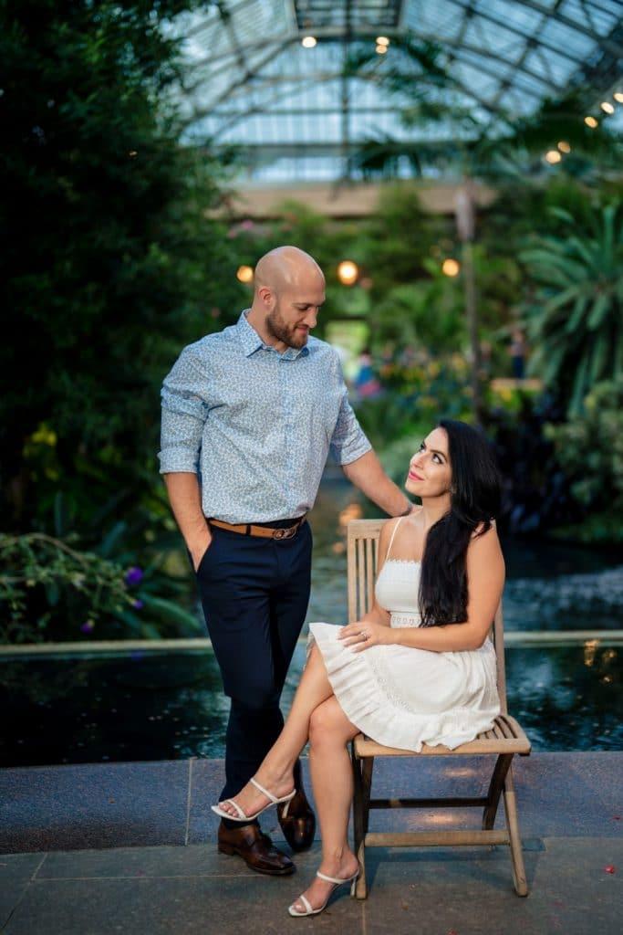 edwardian inspired engagement photo