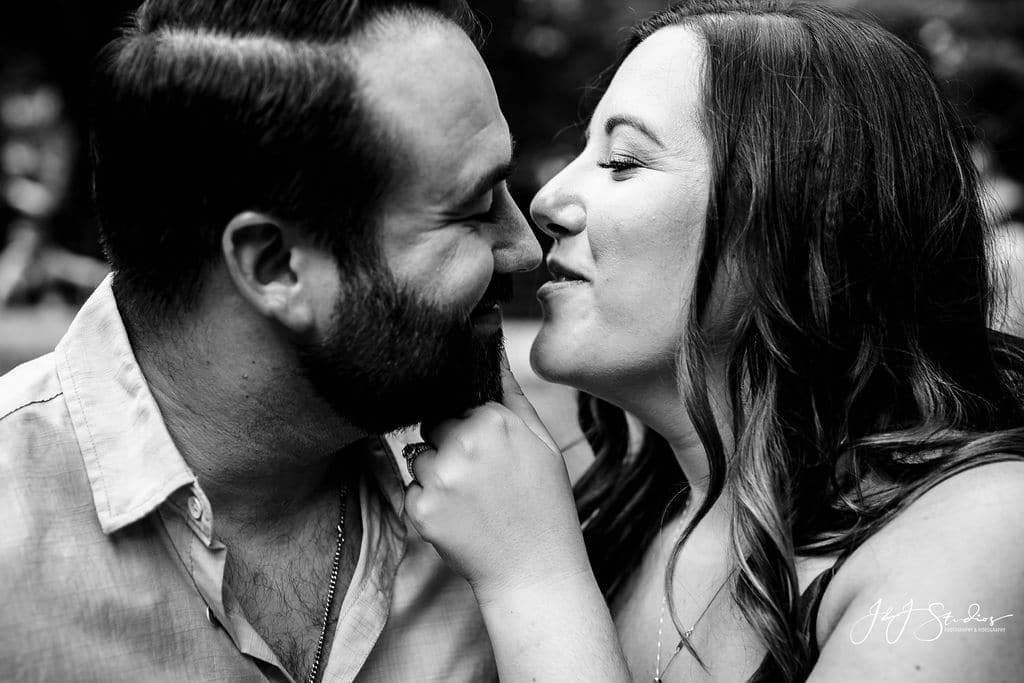 Couple in love Rittenhouse Square and Addison Street Engagement Shot By John Ryan