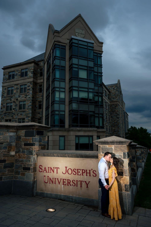 Philly SJU Couple Saint Joseph's University Engagement Shot By John Ryan