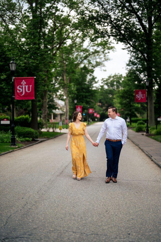 Walking along SJU Campus Shot By John Ryan