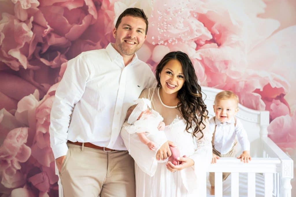 happy family newborn photographer