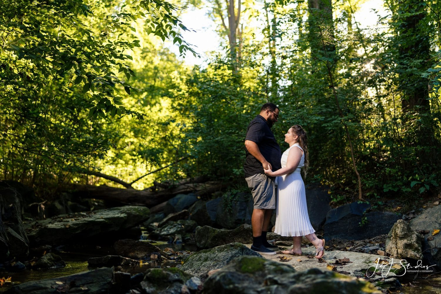 Standing in the middle of nature Forbidden Drive Engagement Shot By John Ryan